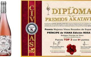 Príncipe de Viana Edición Rosa 2015 TOP 3 Mejores Rosados 2016 España © Ranking AkataVino 500X