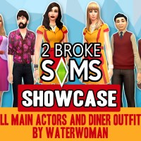 2 Broke Sims ShowCASe + Diner Outfits