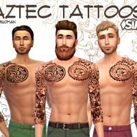 Azteken Tattoos für Männer