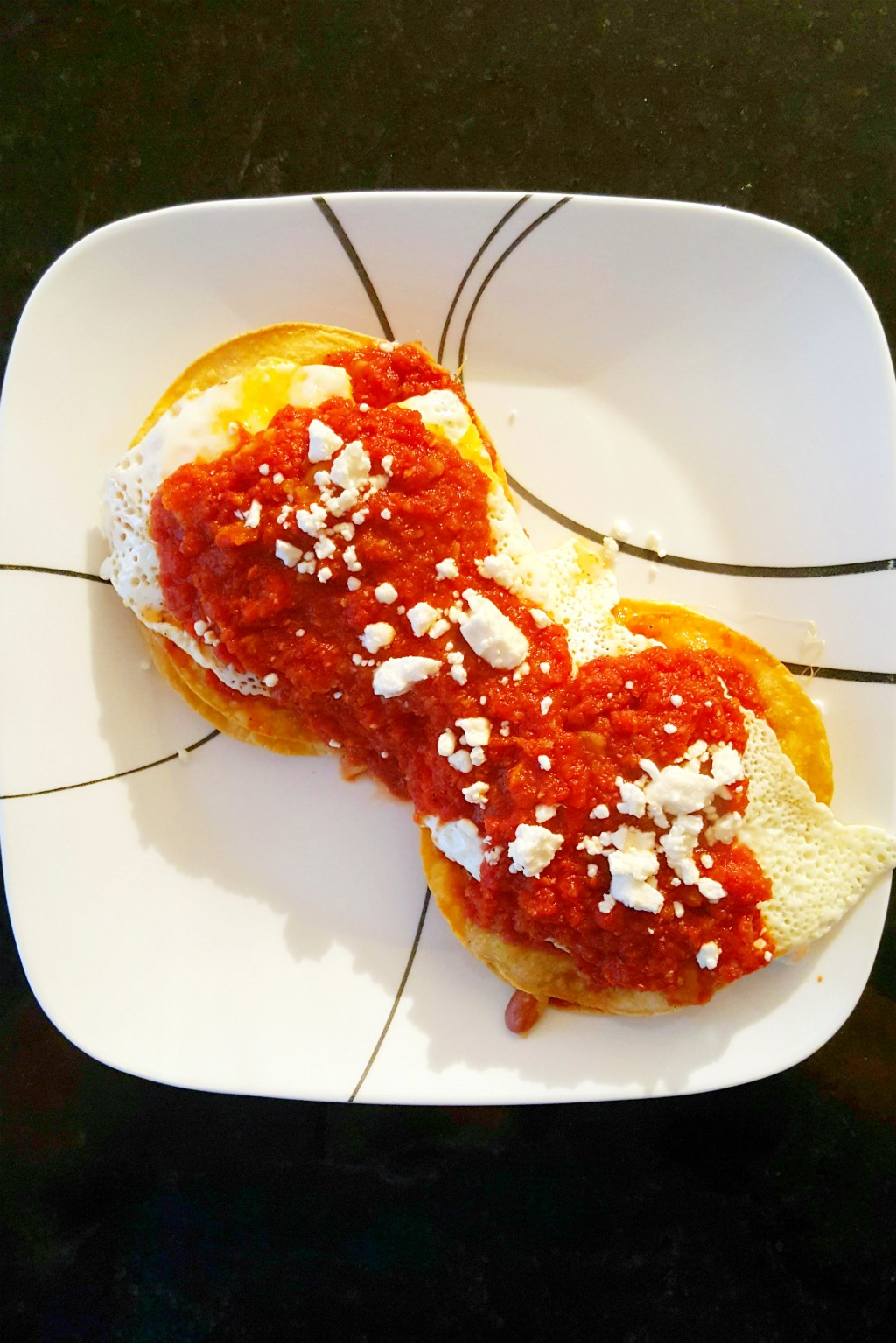 Huevos Rancheros Tostadas - A Kitchen Hoor's Adventures
