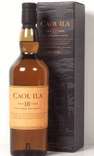 Picture of a bottle of Caol Ila 18 Year - A fine, single malt scotch.
