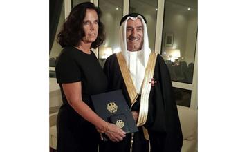 الاستاذ عبد الجليل عبد الكريم الانصاري يحصل على وسام الاستحقاق الألماني من الدرجة الأولى، كأول بحريني يكرم به