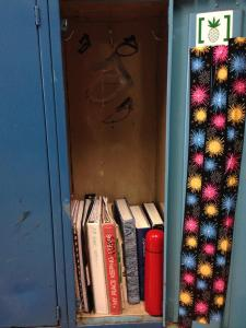 It is much easier to find books in a well-organized locker.