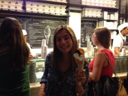 Stoddard enjoys gelato in Rome. Photos courtesy of Kacy Stoddard