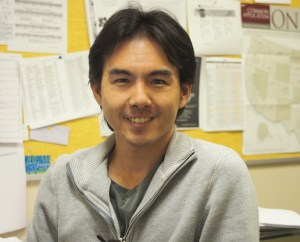 Muramoto joined AHS in October. Photo by Aleeza Zinn