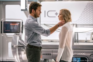 Chris Pratt and Jennifer Lawrence star in 'Passengers.' Photo courtesy of passengersmovie.com