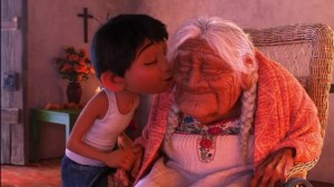 Miguel and his great grandmother in 'Coco.' Photo courtesy of movies.disney.com/coco