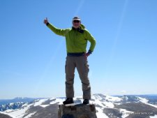 Alan on Kosciuszko's Summit