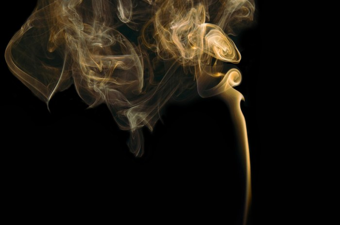what is incense? A picture of golden smoke