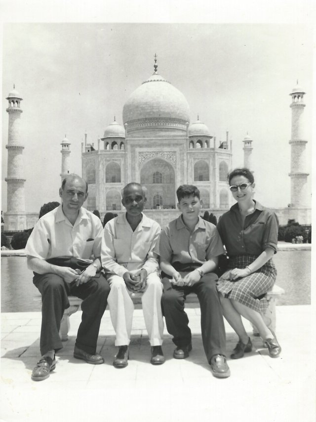 My mom, dad, guide Sonny and myself in front of the Taj Mahal on the morning of my 13th birthday!