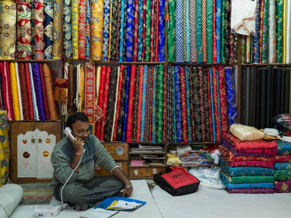 Tailors shops in Kathmandu are very colourful