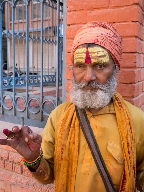 A holy man/beggar