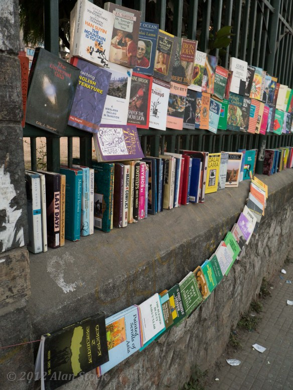 In Kathmandu they sell books on the street like this