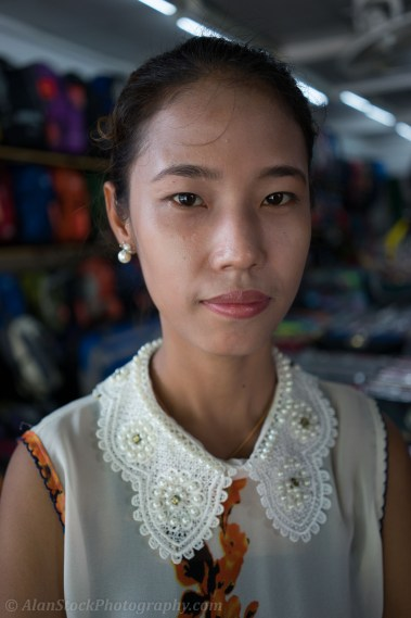 Thai market stall girl on Khao San Road