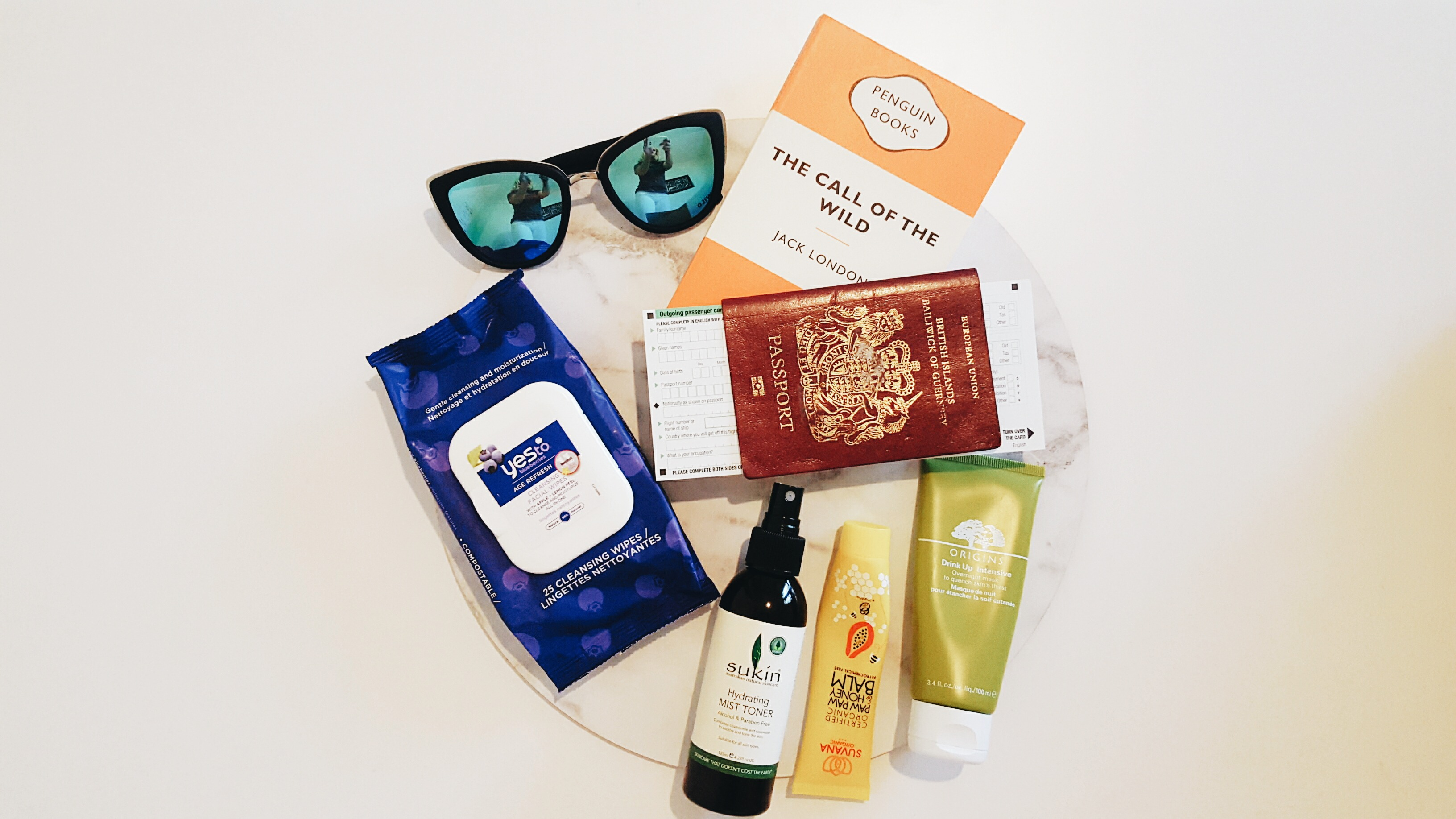 In-flight pamper kit
