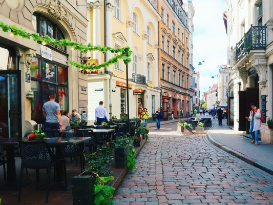 Quaint cobbled streets of Old Town Riga