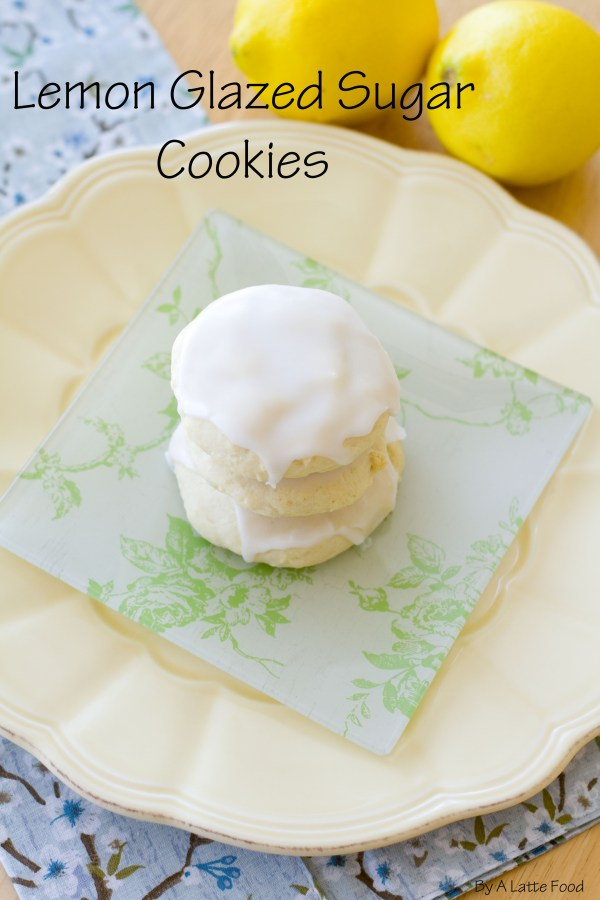 Soft Baked Lemon Sugar Cookies | A Latte Food