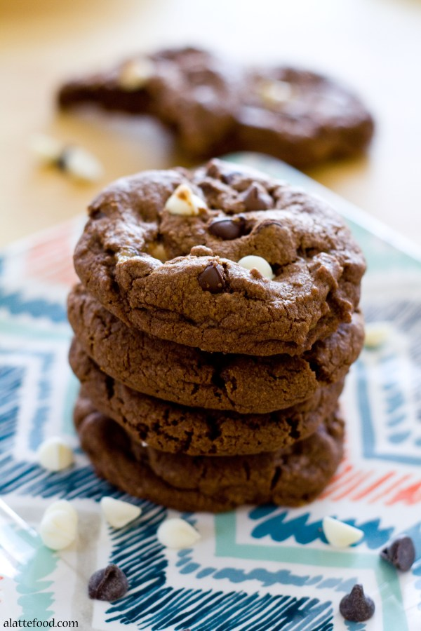 Triple Chocolate Milky Way Cookies | A Latte Food