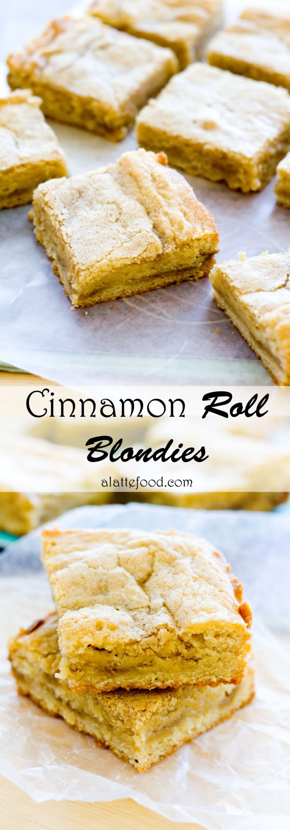 Cinnamon Roll Blondies | A Latte Food