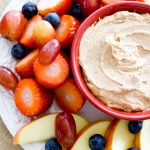 {Healthy and Gluten-Free} Chocolate Peanut Butter Fruit Dip