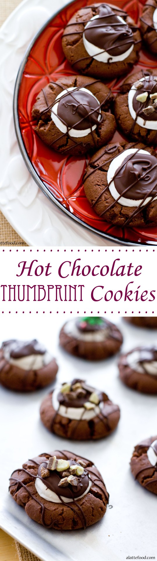 Hot Chocolate Thumbprint Cookie | A Latte Food