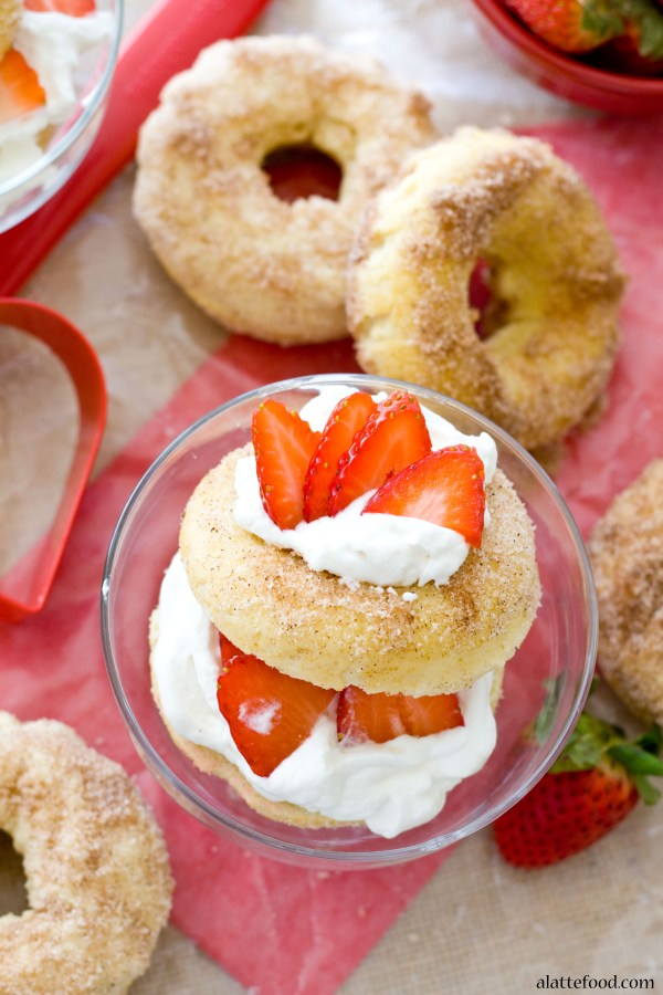 {Baked} Strawberry Shortcake Donuts | A Latte Food