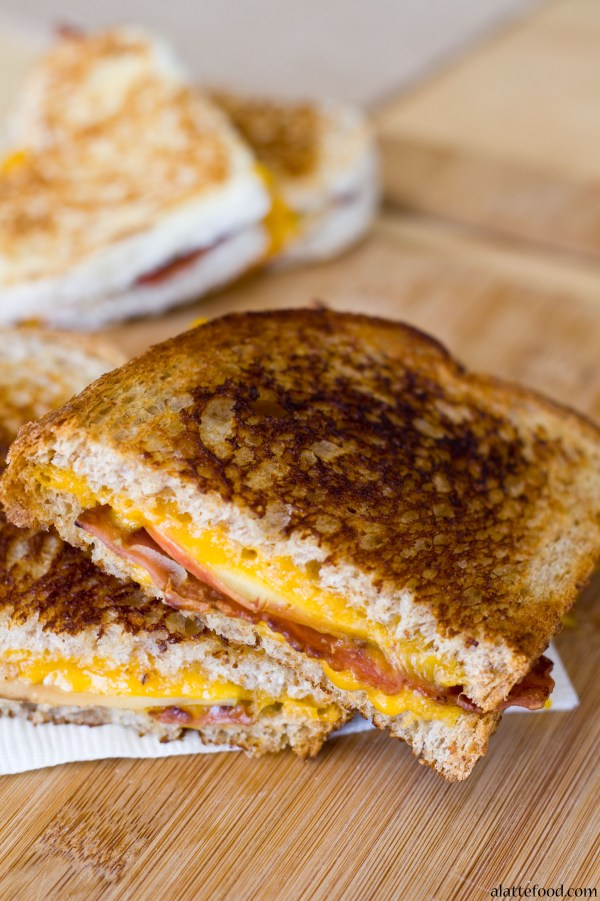 Apple Bacon and Cheddar Grilled Cheese   A Latte Food