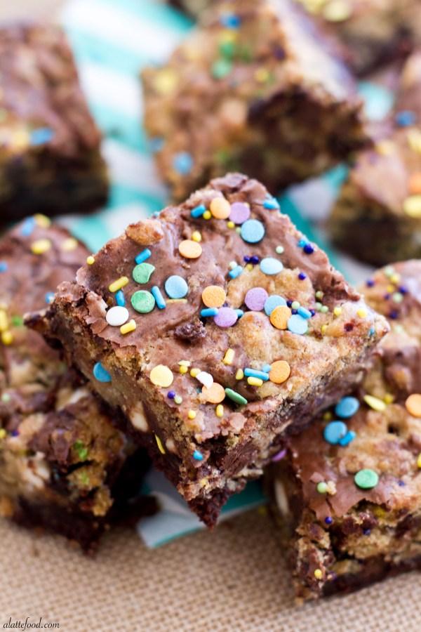Cake Batter Cookie Brownies | A Latte Food