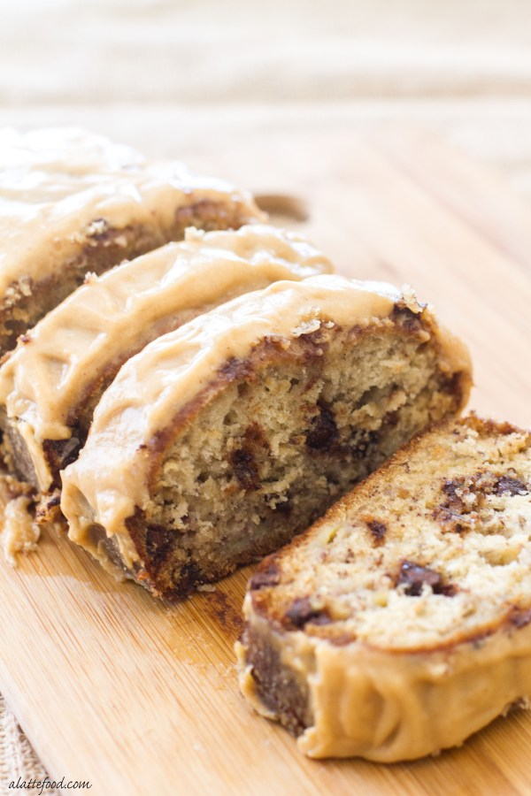 Chocolate Chip Banana Bread with Peanut Butter Icing| www.alattefood ...