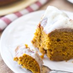 Cream Cheese Glazed Pumpkin Bundt Cake