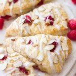 Raspberry Almond Cream Scones