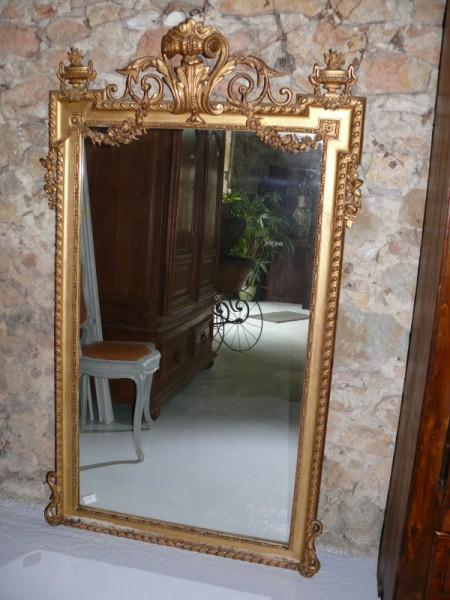 Miroir napol on 3 miroir d 39 poque restaurateur auch for Miroir napoleon