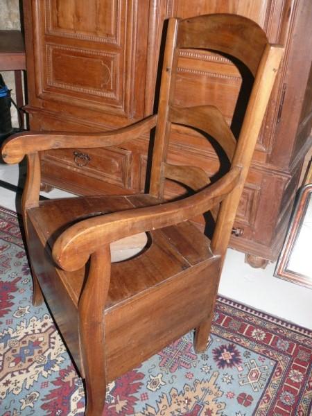 chaise perc e en noyer albert antiquit. Black Bedroom Furniture Sets. Home Design Ideas