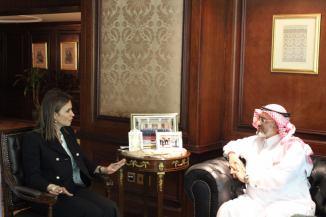 صحر نصر أثناء مناقشات الصندوق السعودي للتنمية