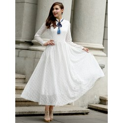Small Crop Of Long Sleeve White Dress