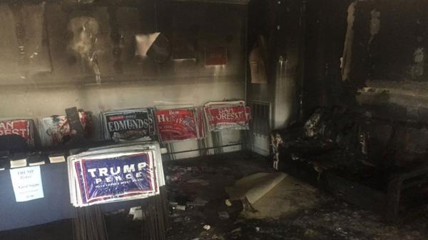 Bomba en la sede de Trump en Carolina del Norte.