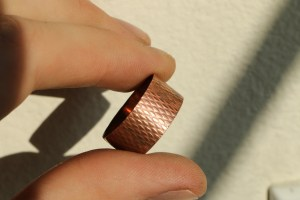 Textured copper ring 1