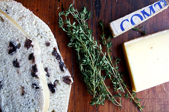 olive bread, thyme, comte