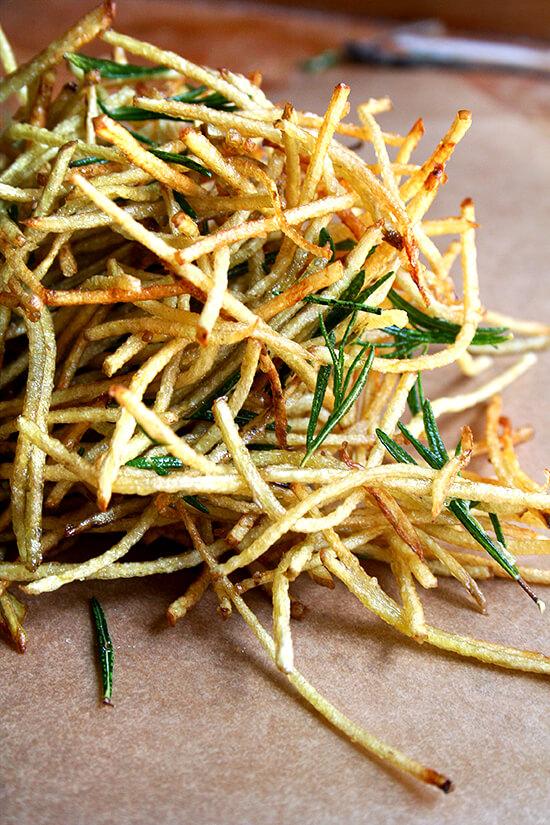 fries with lemon salt & rosemary