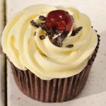 Black forest gateau cup cake