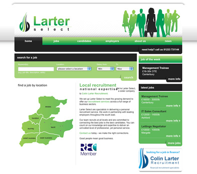 Colin Larter Recruitment website