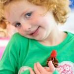 Baby raspberry cupcake
