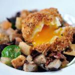 Breaded quail's egg