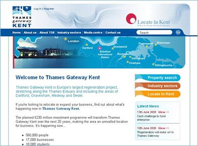 Thames Gateway website