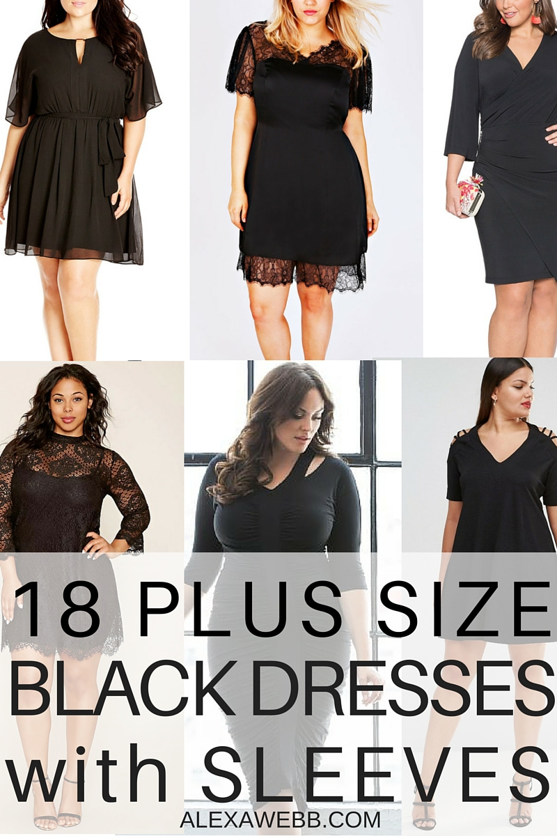 18 Plus Size Black Dresses {with Sleeves}