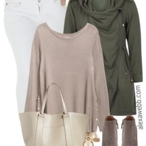 Plus Size Fall White Jeans Outfit - Plus Size Fashion for Women - alexawebb.com - #alexawebb