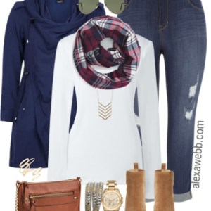Plus Size Casual Fall Outfit - Plus Size Fashion - alexawebb.com