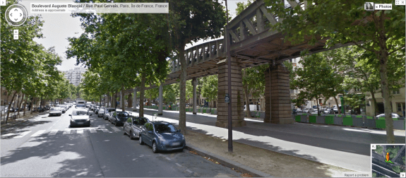 Paris Metro Line 6. Image from Google Streetview.