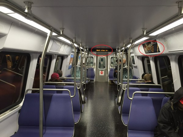 7000 series information displays - photo by the author.