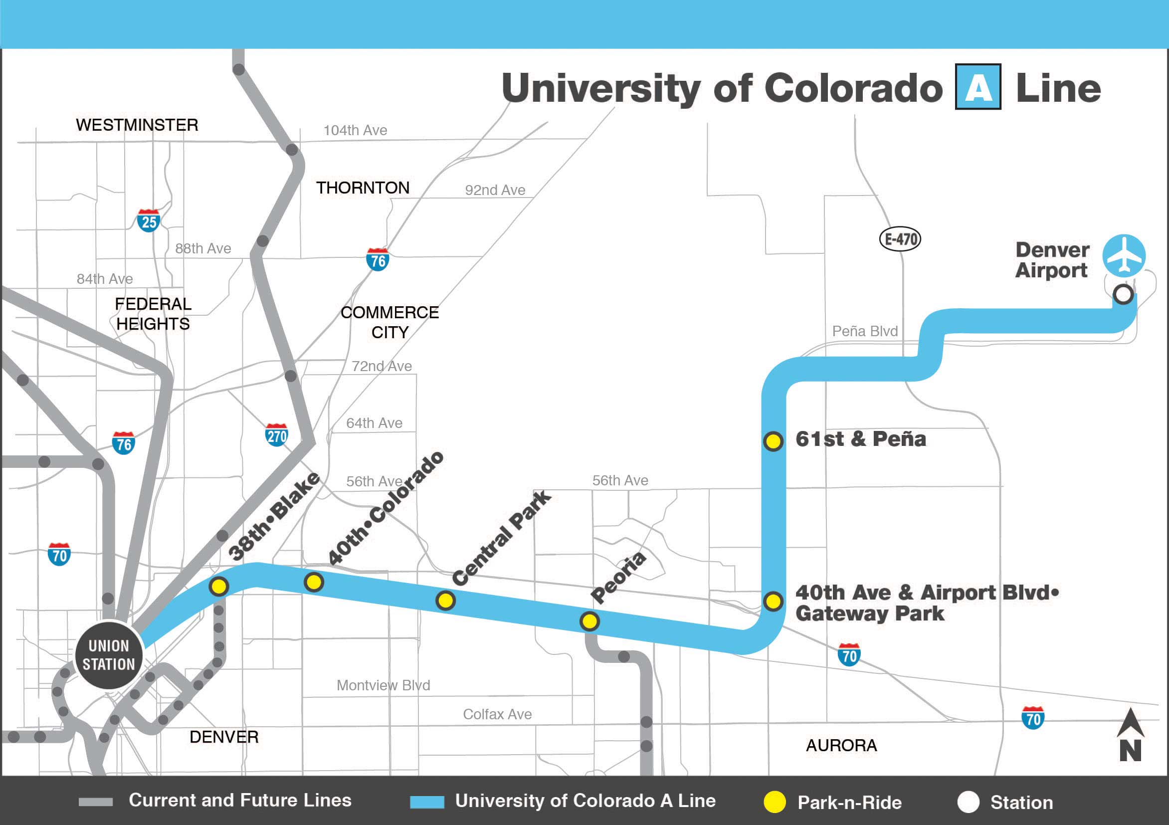 the good and bad of denver's new airport transit line Â« city block - the good and bad of denver's new airport transit line